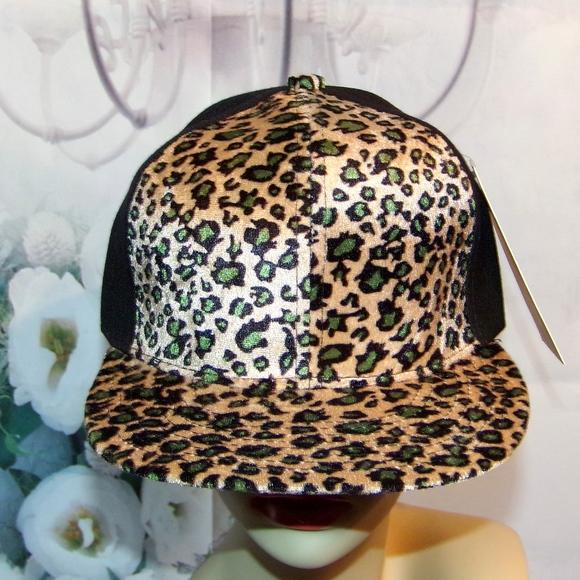 Leopard Cheetah Hat Animal Print Baseball cap NWT b8d7ecd06c3